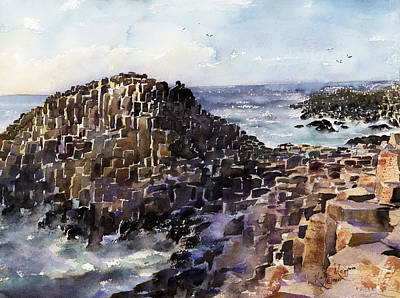 Fineartamerica.com Painting - Giants Causeway County Antrim N.ireland by Keith Thompson