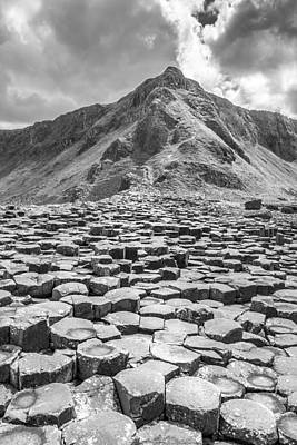 Photograph - Giants Causeway In Northern Ireland Black And White by Pierre Leclerc Photography