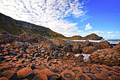 Mountain Photograph - Giant's Causeway by Marcia Colelli