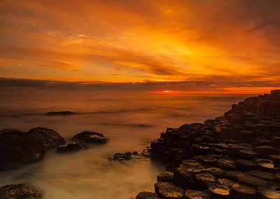 Photograph - Giants Causeway Sunset by Craig Brown