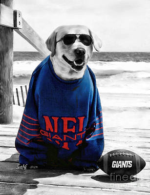 Photograph - Giants Fan by Sami Martin