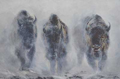 Corwin Painting - Giants In The Mist by James Corwin