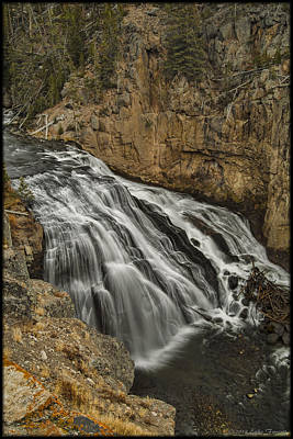Photograph - Gibbon Falls by Erika Fawcett