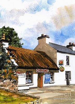 Painting - Gibbons Thatched Pub  Mayo by Val Byrne
