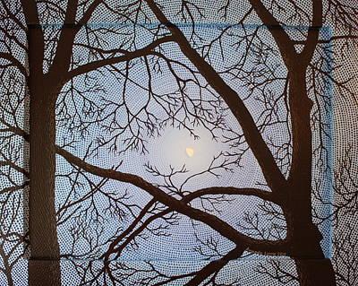 Painting - Gibbous Moon At Twilight by Amanda  Lynne