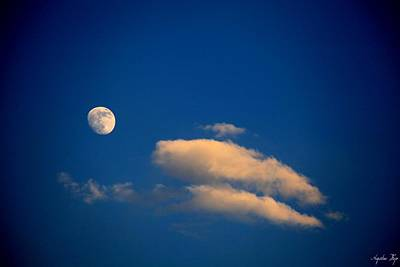 Photograph - Gibbous Moon by Augustina Trejo