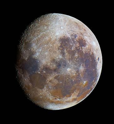 Gibbous Moon Photograph - Gibbous Moon by Luis Argerich
