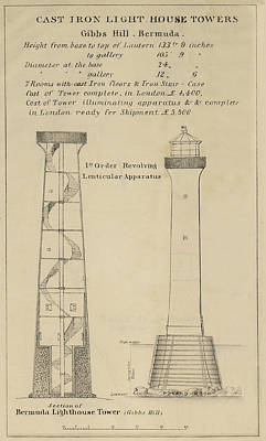 Coast Guard Drawing - Gibbs Hill Lighthouse by Jerry McElroy - Public Domain Image