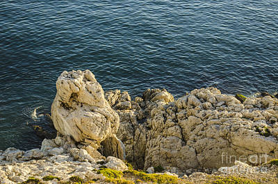 Photograph - Gibraltar Coastal Rock Formation by Deborah Smolinske