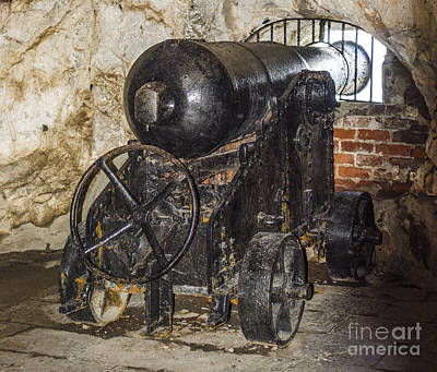 Photograph - Gibraltar Siege Tunnel Cannon by Deborah Smolinske