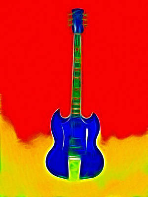 Gibson Guitare Art Print by Steve K