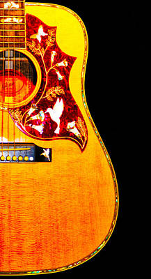 Acoustic Guitar Photograph - Gibson Hummingbird by Bill Cannon