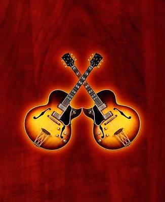 Gibson Jazz Art Print by Doron Mafdoos