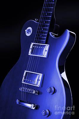 Rock N Roll Digital Art - Gibson Les Paul Guitar by Simon Kayne