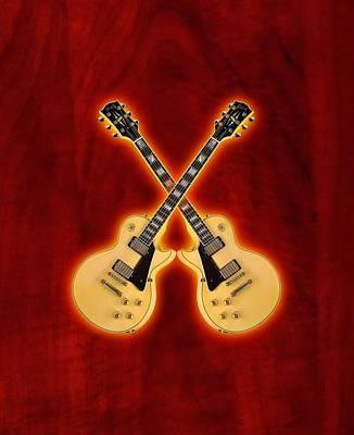 Gibson Randy Rhoads Les Paul Custom Print by Doron Mafdoos