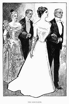 Gibson: The Debutante, 1899 Art Print by Granger