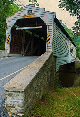 Photograph - Gibson's Coverd Bridge by Michael Porchik