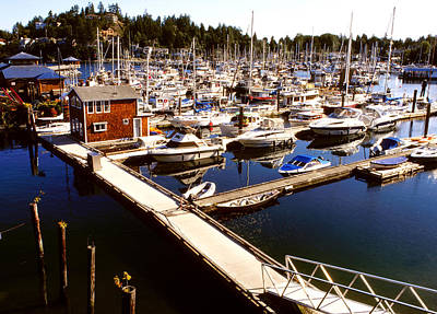 Photograph - Gibsons Harbor Wide View by Robert  Rodvik