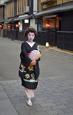 Photograph - Geisha Of Gion District In Kyoto by Jeff at JSJ Photography
