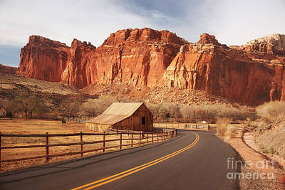 Country Scene Photograph - Gifford Barn At Capitol Reef National Park by Carolyn Rauh