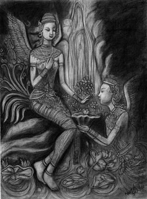 Drawing - Gift Of Love by Naresh Sukhu