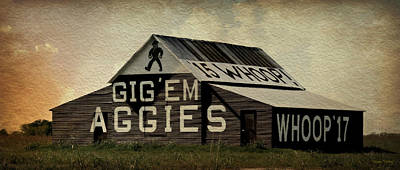 Gig Em Aggies Art Print by Stephen Stookey