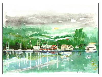 Painting - Northwest Gig Harbor Waterfront by Jack Pumphrey