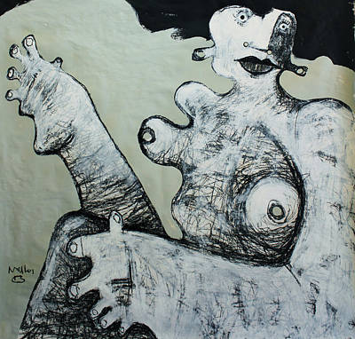 Figurative Art Mixed Media - Gigantes No. 1  by Mark M  Mellon