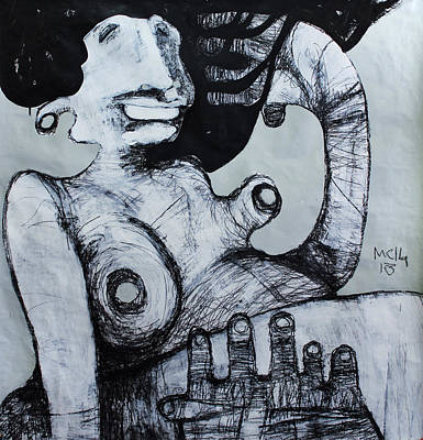 Outsider Art Mixed Media - Gigantes No. 3 by Mark M  Mellon