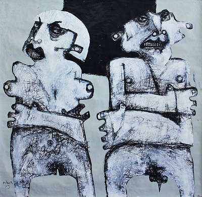 Man And Woman Mixed Media - Gigantes No. 4 by Mark M  Mellon