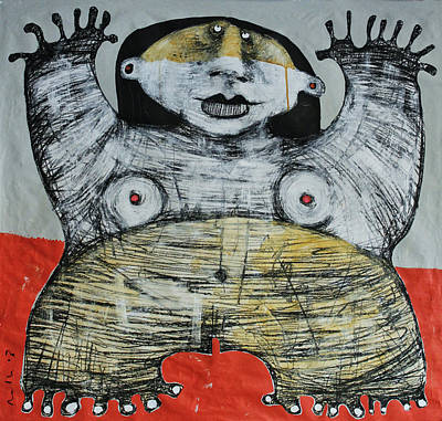 Outsider Painting - Gigantes No. 7 by Mark M  Mellon