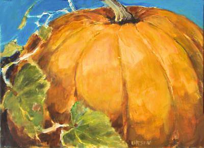 Gigantic Pumpkin Art Print by Diane Ursin