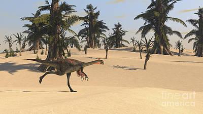 Gigantoraptor Running Print by Kostyantyn Ivanyshen