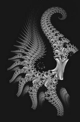Art Print featuring the digital art Gigeresque by Lea Wiggins