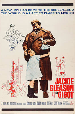 Jackie Gleason Photograph - Gigot, Us Poster Art, From Left Diane by Everett
