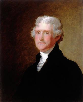 Thomas Jefferson Painting - Gilbert Stuart, Thomas Jefferson, American by Litz Collection