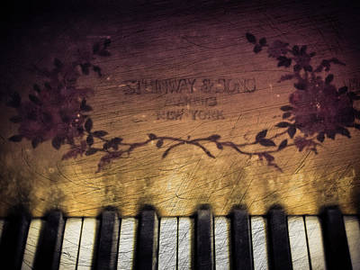 Photograph - Gilded Gold - Steinway Piano by Colleen Kammerer