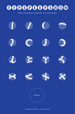 Gill Sans Type Peep Show Art Print by Martin Krzywinski