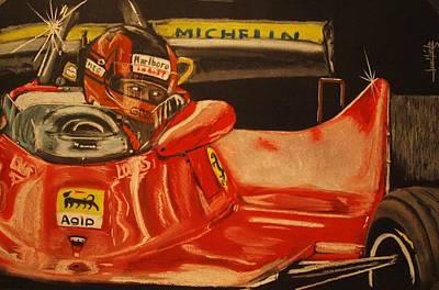 Gilles Villeneuve At Monaco 1980 Original