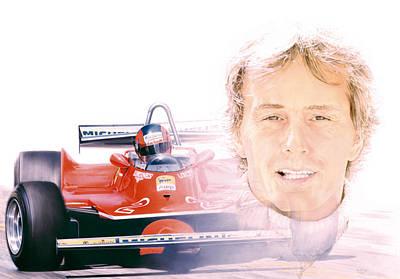 Gilles Villeneuve  Ferrari T5  1980 Art Print by Alberto Ponno
