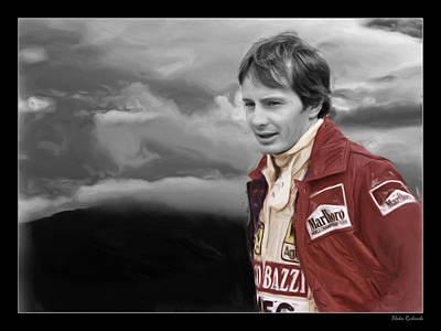 Photograph - Gilles Villeneuve Portrait by Blake Richards