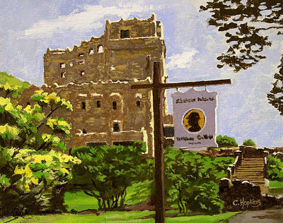 Covered Bridge Painting - Gillette Castle East Haddam Connecticut by Christine Hopkins