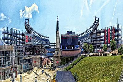 Gillette Stadium  Home Of The New England Patriots Art Print
