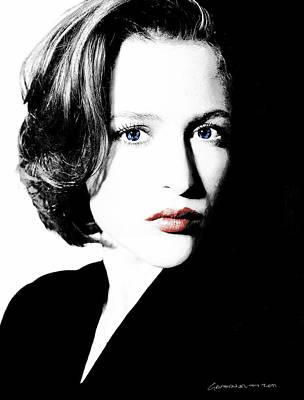 Gillian Digital Art - Gillian Anderson by Gabriel T Toro