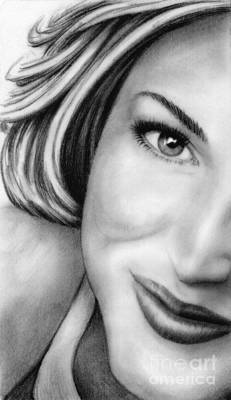 Drawing - Gillian Anderson by Wu Wei