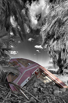 Selective Color Photograph - Gilligans Island Black And White 2 by Scott Campbell