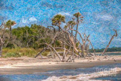 Digital Art - Gilligans Isle by Dale Powell