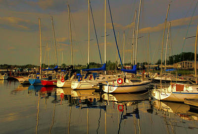 Photograph - Gimli Harbour by Larry Trupp