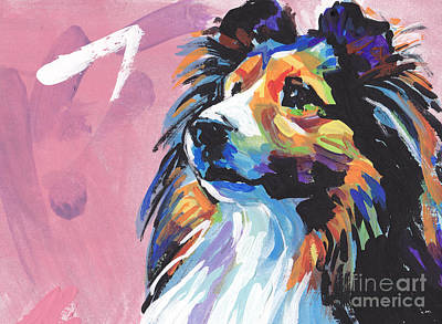 Sheltie Painting - Gimme Sheltie by Lea S