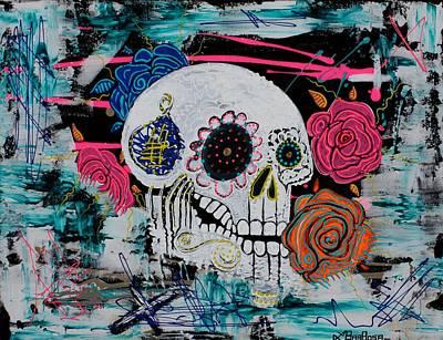 Sugar Skull Mixed Media - Gimme Some Sugar Baby by Laura Barbosa